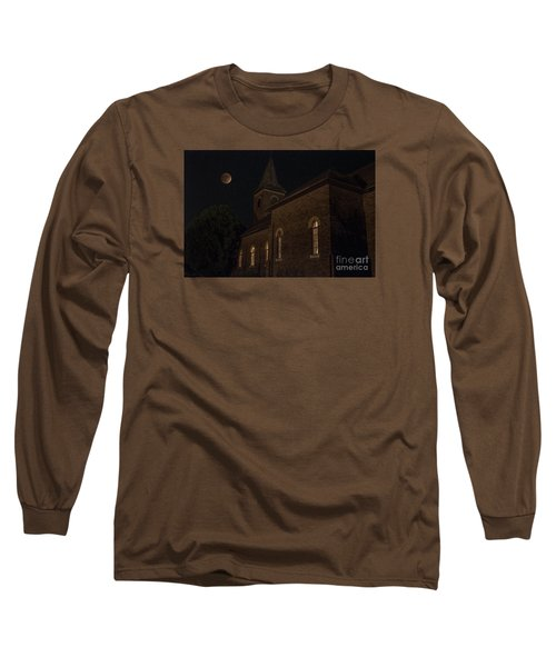 Long Sleeve T-Shirt featuring the photograph Blood Moon Over St. Johns Church by Keith Kapple