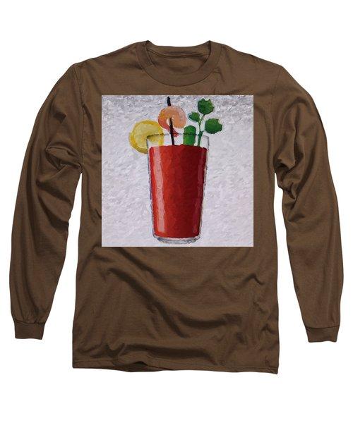 Bloody Mary Emoji Long Sleeve T-Shirt by  Judy Bernier
