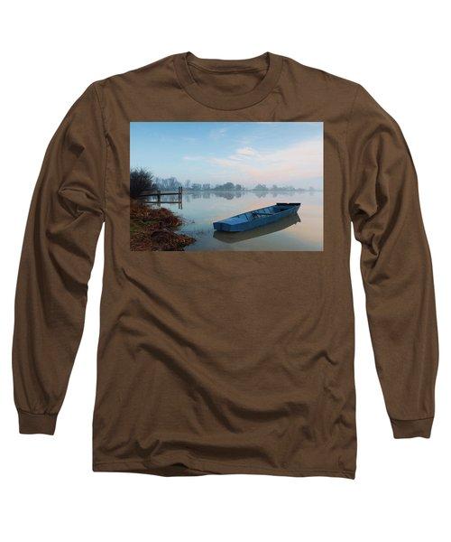 Blue Boat Long Sleeve T-Shirt