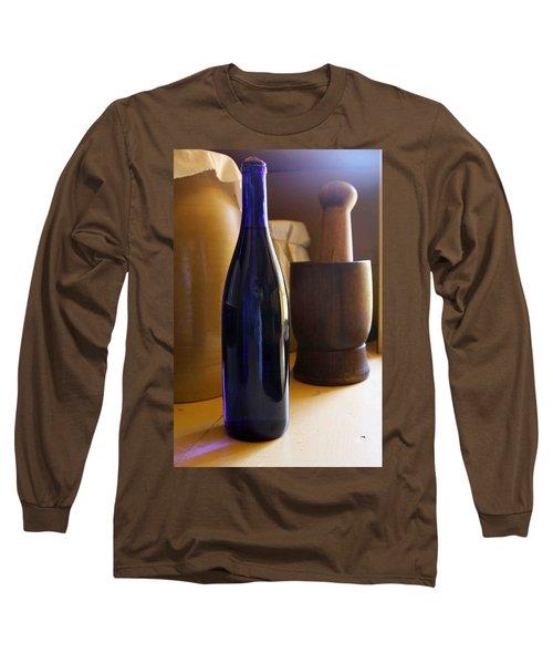 Blue Bottle And Mortar Long Sleeve T-Shirt