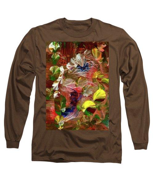 Blue Butterfly Jungle Long Sleeve T-Shirt