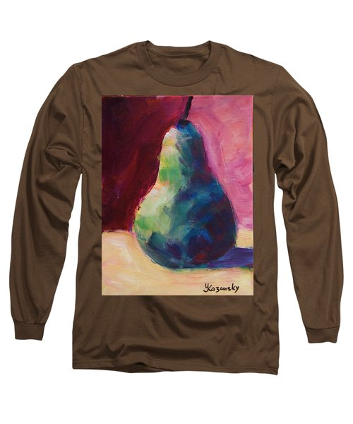 Blue Pear Long Sleeve T-Shirt by Yulia Kazansky