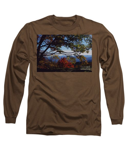 Blue Ridge Mountain View Long Sleeve T-Shirt by Debra Crank