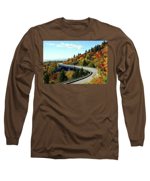 Blue Ridge Parkway Viaduct Long Sleeve T-Shirt by Meta Gatschenberger