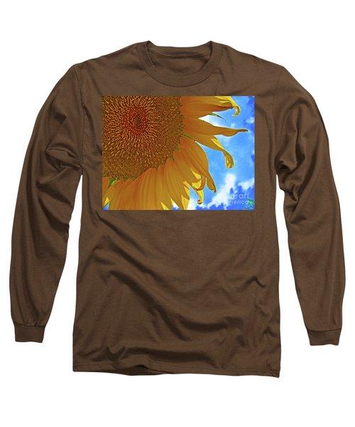 Blue Sky Sunflower Long Sleeve T-Shirt