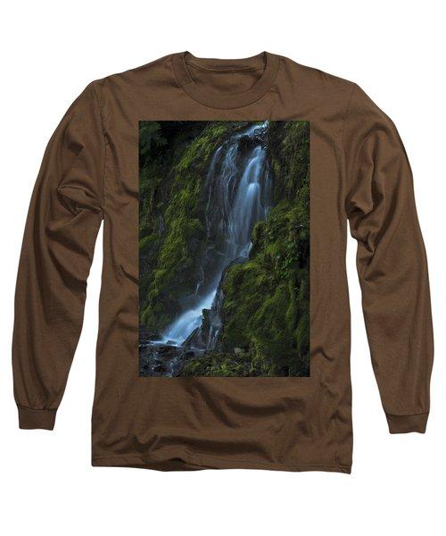 Blue Waterfall Long Sleeve T-Shirt