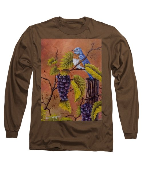 Long Sleeve T-Shirt featuring the painting Bluey And The Grape Vine by Dan Wagner