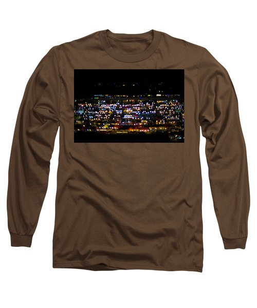 Blurred City Lights  Long Sleeve T-Shirt by Jingjits Photography