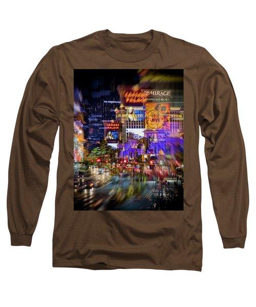 Blurry Vegas Nights Long Sleeve T-Shirt