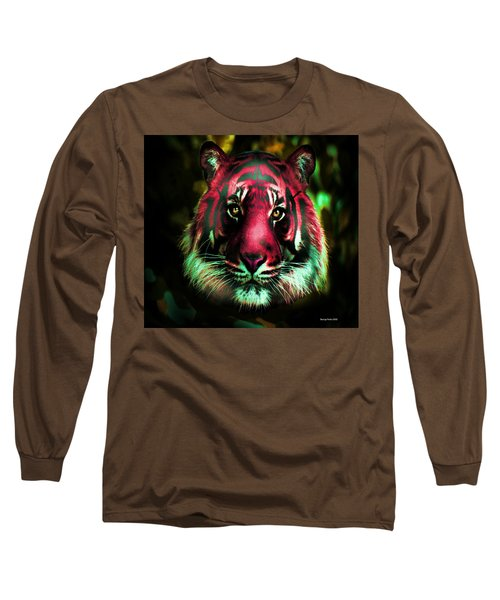 Long Sleeve T-Shirt featuring the photograph Blushing Tiger by George Pedro