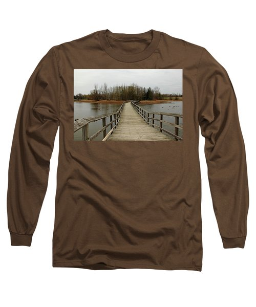 Boardwalk Long Sleeve T-Shirt by Debbie Oppermann