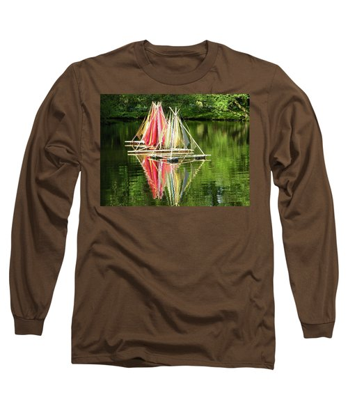 Boats Landscape Long Sleeve T-Shirt by Manuela Constantin