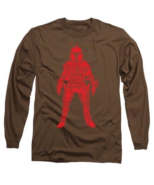 Boba Fett - Star Wars Art, Red Long Sleeve T-Shirt