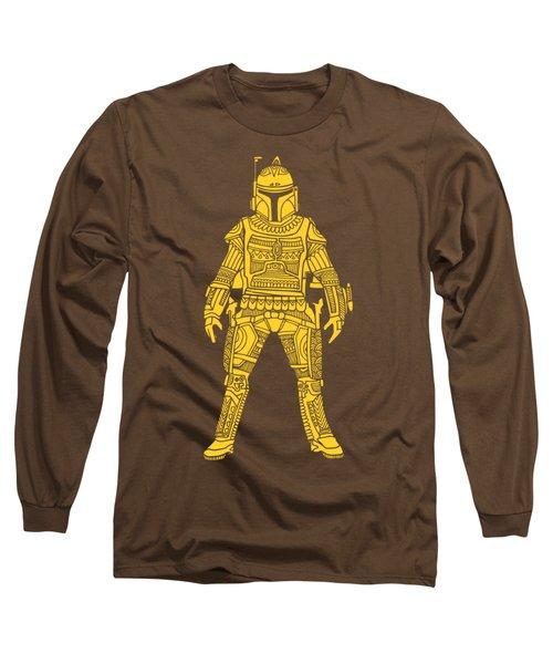 Boba Fett - Star Wars Art, Yellow Long Sleeve T-Shirt