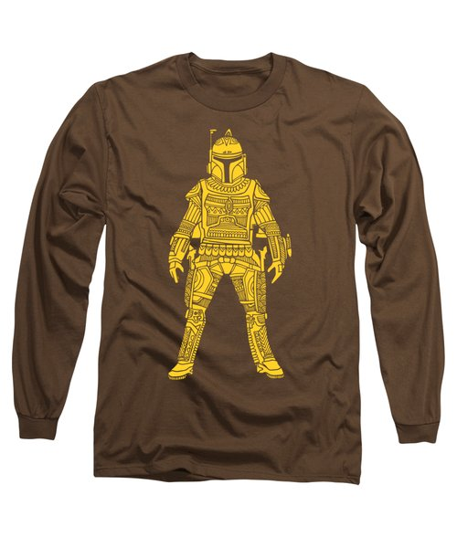 Boba Fett - Star Wars Art, Yellow Long Sleeve T-Shirt