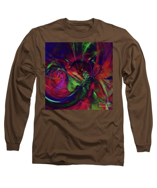 Long Sleeve T-Shirt featuring the digital art Bold Red by Deborah Benoit