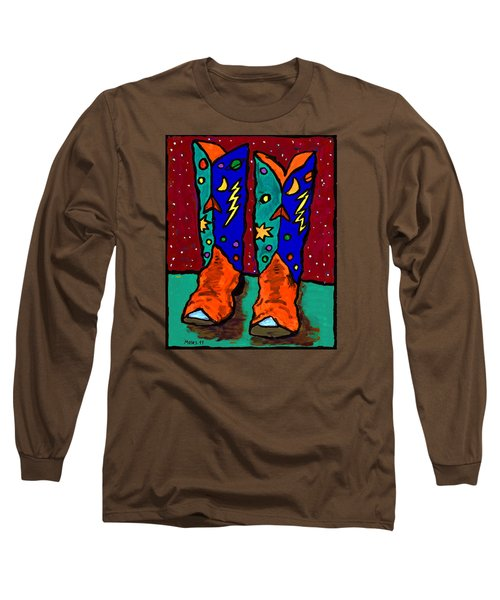Boots On Rust Long Sleeve T-Shirt