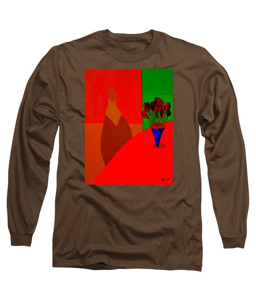 Long Sleeve T-Shirt featuring the painting Boris by Bill OConnor