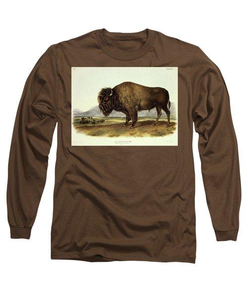 Bos Americanus, American Bison Long Sleeve T-Shirt