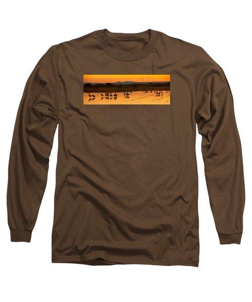 Bosque Sunrise Long Sleeve T-Shirt by Alan Vance Ley