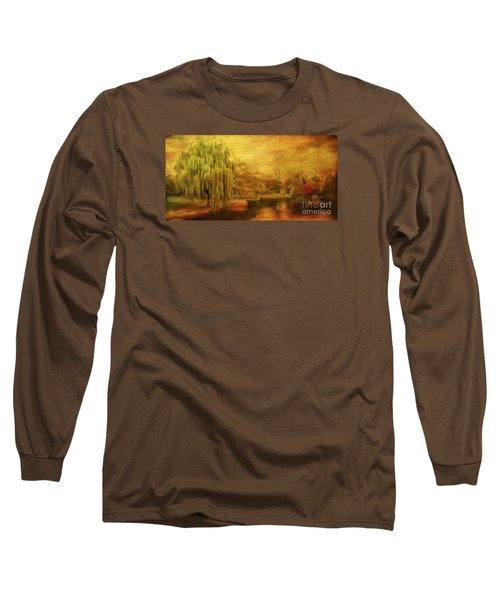 Boston Common In Autumn Long Sleeve T-Shirt by Liz Leyden