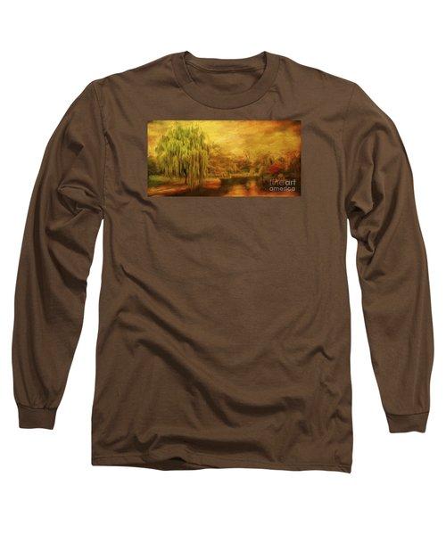 Boston Common In Autumn Long Sleeve T-Shirt