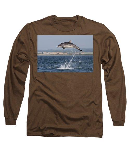 High Jump - Bottlenose Dolphin  - Scotland #42 Long Sleeve T-Shirt