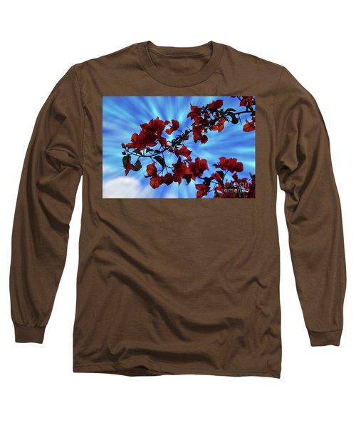 Bougainvillea At Joe's Secret Garden Iv Long Sleeve T-Shirt by Al Bourassa