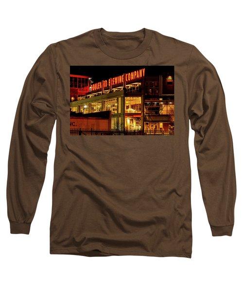 Boulevard Beer Sign Long Sleeve T-Shirt by Steven Bateson
