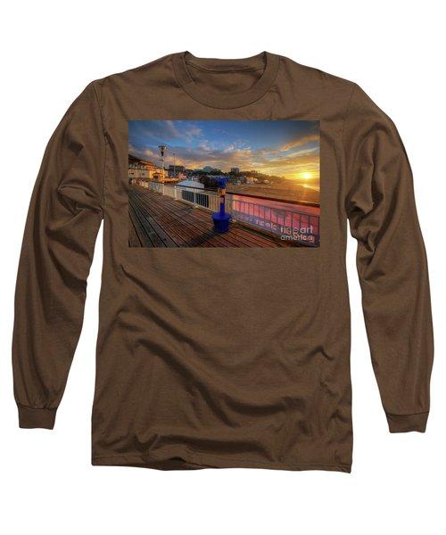 Long Sleeve T-Shirt featuring the photograph Bournemouth Pier Sunrise by Yhun Suarez