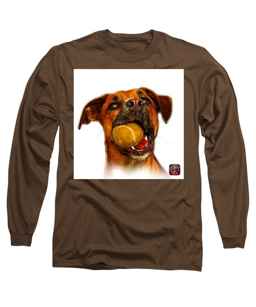 Boxer Mix Dog Art - 8173 - Wb Long Sleeve T-Shirt