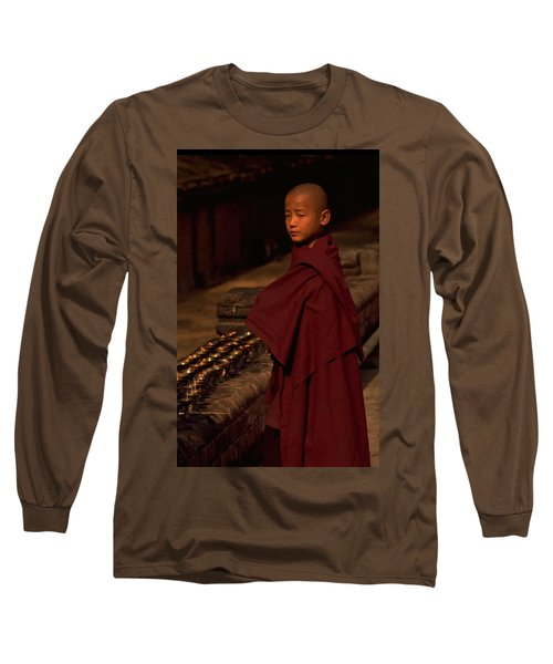 Boy Buddhist In Bodh Gaya Long Sleeve T-Shirt