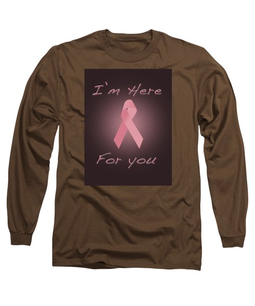 Breast Cancer Long Sleeve T-Shirt by Jim  Hatch