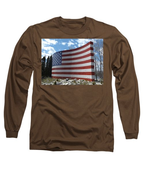 Brick American Flag Long Sleeve T-Shirt