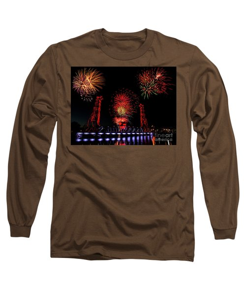 Long Sleeve T-Shirt featuring the photograph Bridge 13 Canada Day by JT Lewis