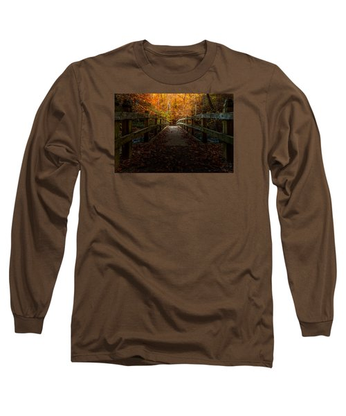 Bridge To Enlightenment Long Sleeve T-Shirt by Ed Clark