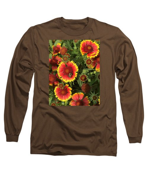Bright Daisy-like Long Sleeve T-Shirt by Arlene Carmel