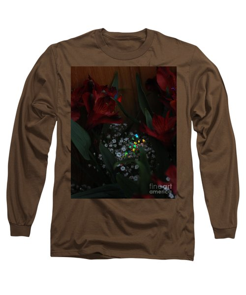 Long Sleeve T-Shirt featuring the photograph Brilliantly Shy by Marie Neder