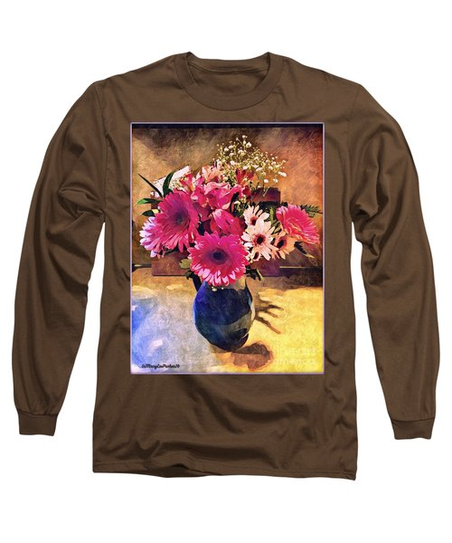 Brithday Wish Bouquet Long Sleeve T-Shirt by MaryLee Parker