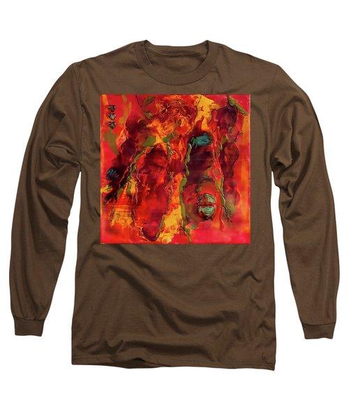 Broken Mask Encaustic Long Sleeve T-Shirt