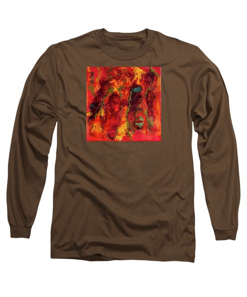 Broken Mask Encaustic Long Sleeve T-Shirt