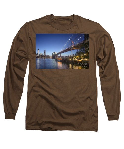 Long Sleeve T-Shirt featuring the photograph Brooklyn Brdige New York  by Juergen Held