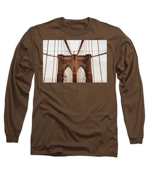 Long Sleeve T-Shirt featuring the photograph Brooklyn Bridge by MGL Meiklejohn Graphics Licensing