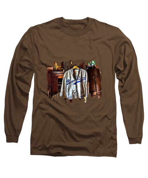 Long Sleeve T-Shirt featuring the photograph Brooklyn Dodgers Baseball  by Thom Zehrfeld