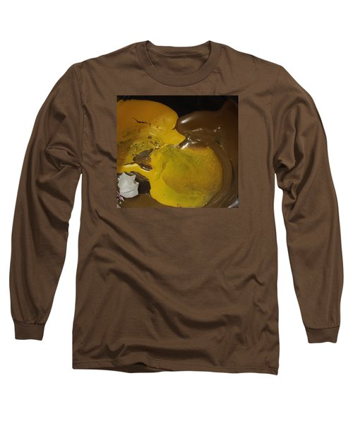 Brown Dolphin Eating A Lemon Long Sleeve T-Shirt