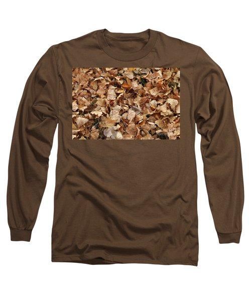 Brown Leaf Carpet Long Sleeve T-Shirt