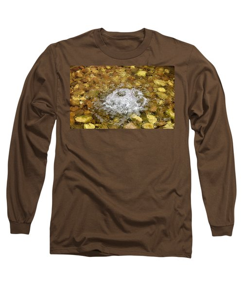 Bubbling Water In Rock Fountain Long Sleeve T-Shirt