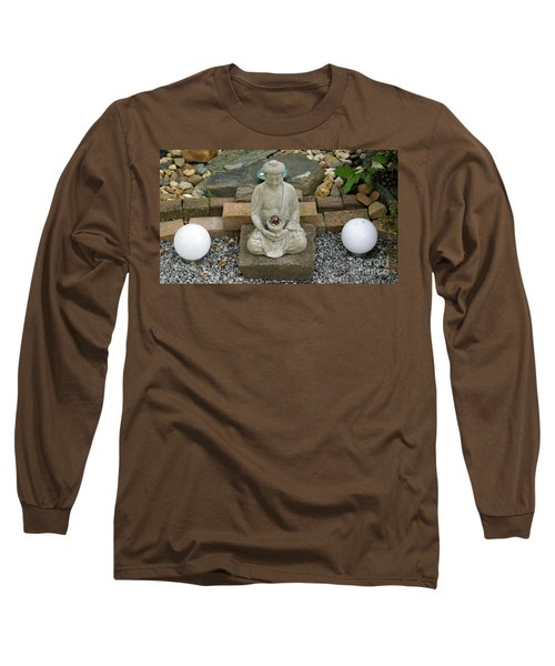 Buddha In The Garden Long Sleeve T-Shirt