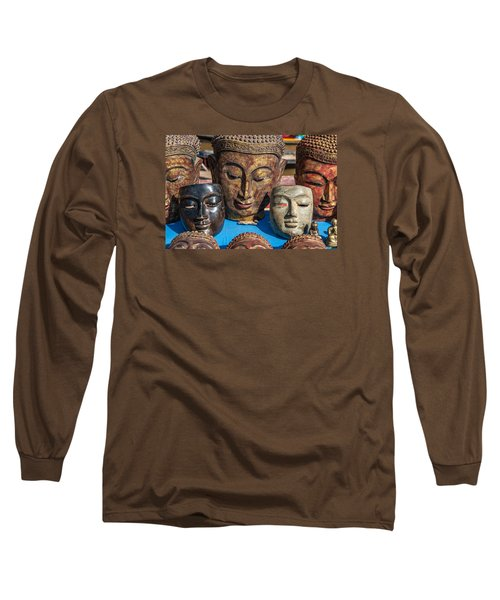 Buddha Masks Hadicrafts Long Sleeve T-Shirt