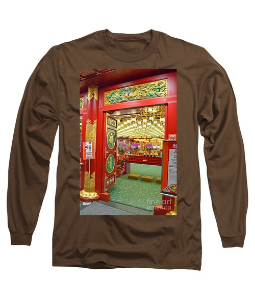 Long Sleeve T-Shirt featuring the digital art Buddha Tooth Relic Temple And Museum by Eva Kaufman